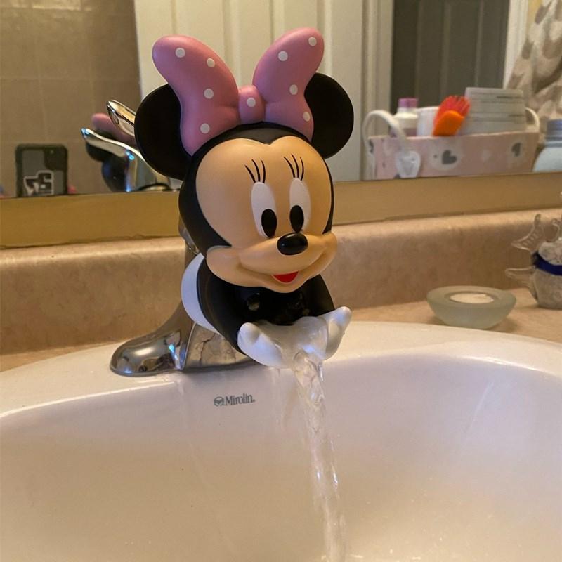 Удлинитель для детского смесителя Disney с Микки и Минни, ручка для раковины для малышей, смеситель для ванной, инструмент для мытья рук