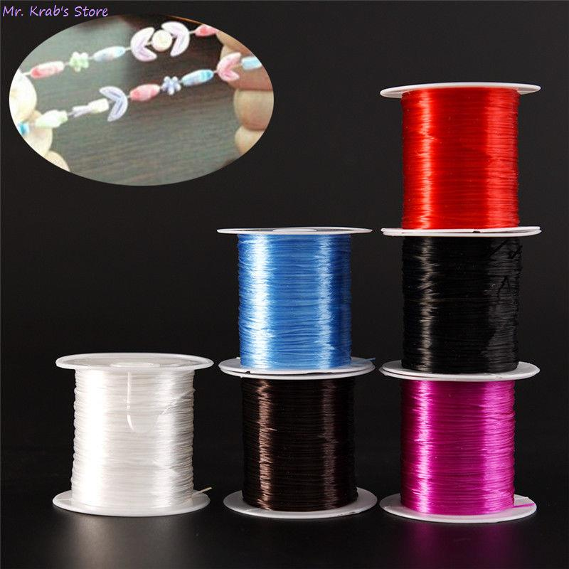 1.0mm DIY Round Elastic Line Transparent Crystal Elastic Beading Cord String Thread For Jewelry Making Necklace