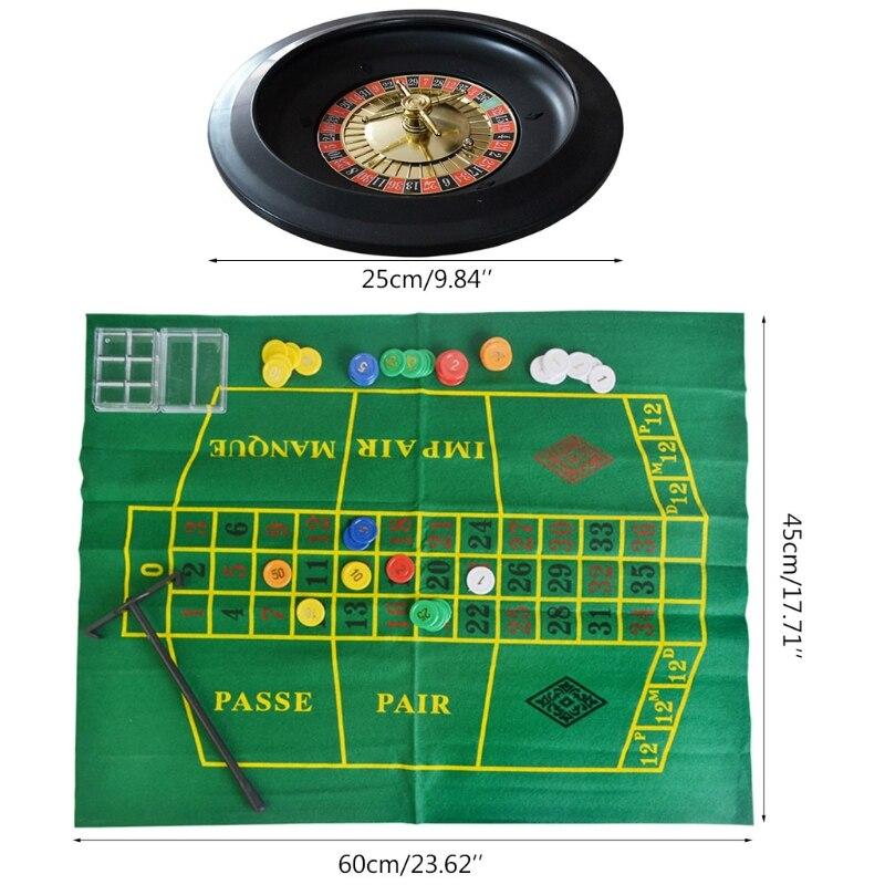 10-дюймовая рулетка, набор игр, рулетка для казино, рулетка с настольной тканью, покерные чипы для бара, KTV, вечеринки, игра Borad-2