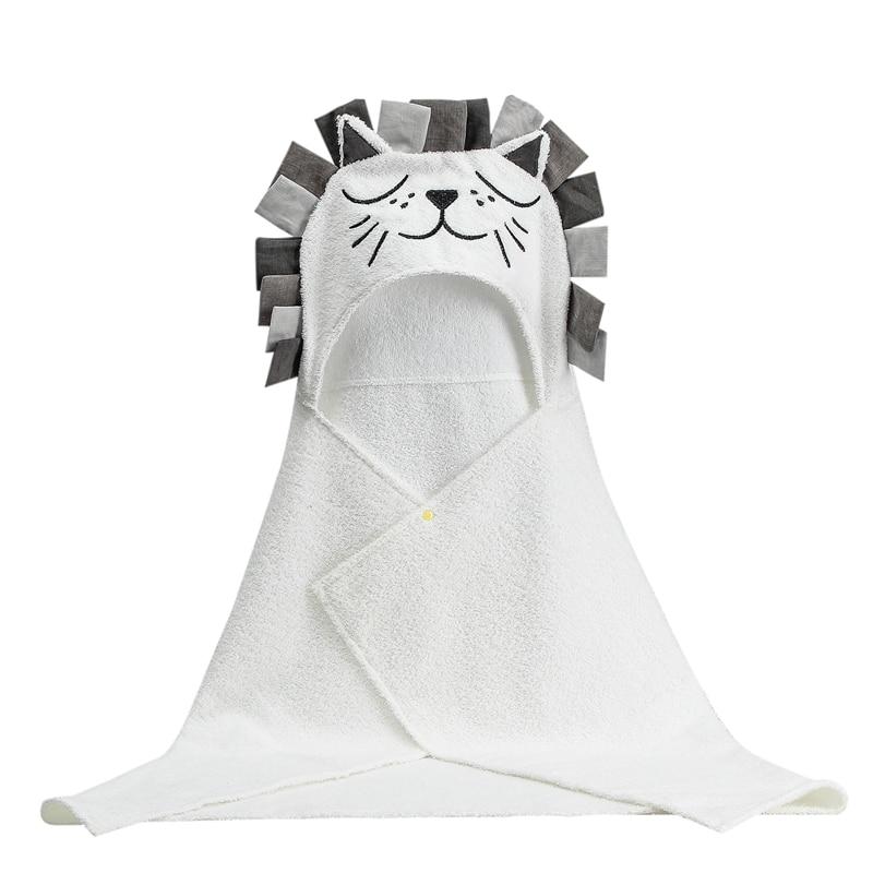 Newborn Bath Organic Cotton Blanket Children Towel for Kids Towel Hooded Towel Baby Balanket Kids Bathrobe Bebe Beach Toalla