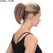 Delice-queue-de-cheval à pince synthétique   Postiche droite pour femmes