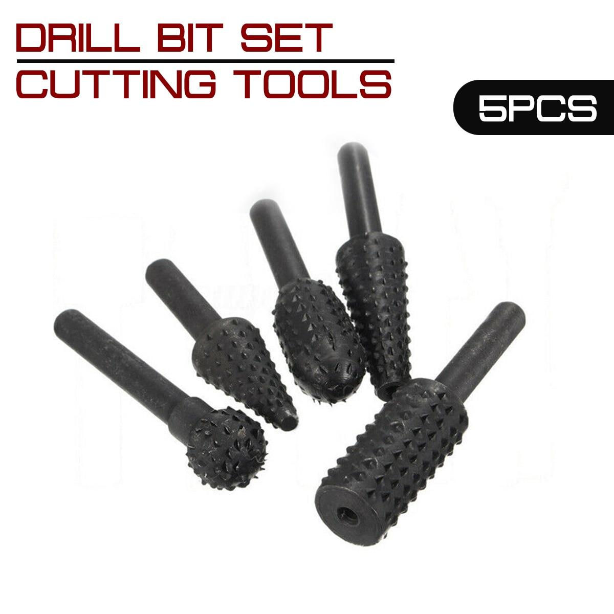 1/4 `` 5 pezzi set di punte da trapano per utensili da taglio per - Punta da trapano - Fotografia 3