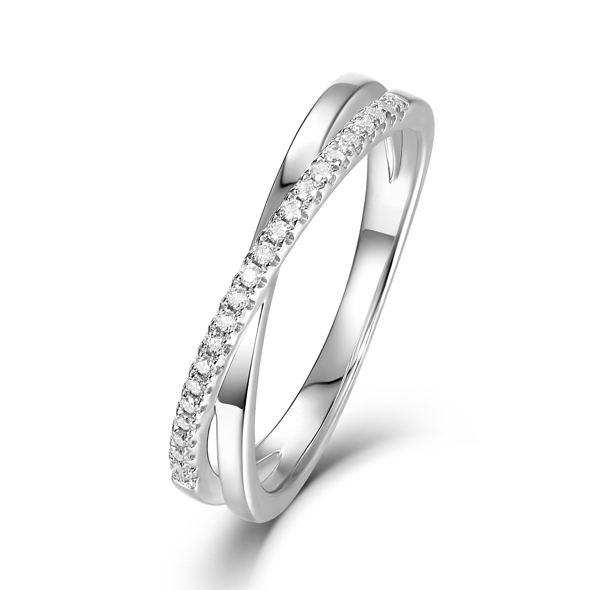 BOEYCJR 925 Silver D color 1.5mm  Moissanite VVS1 Simple Design Wedding Ring With national certificate for Women Gift