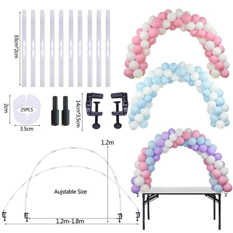1Set Balloons Holder Column Stand Birthday Party Balloon Chain Table Balloon Arch Kits Ballon Accessories for Wedding Decoration