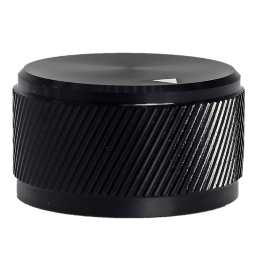 30x17mm Audio Multimedia Speakers Solid Aluminum Knobs Potentiometer Volume Adjustment Knobs - Black
