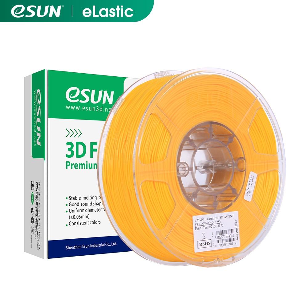 ESUN 3D Drucker Flexible TPE 83A Filament 1,75mm Dimensional Genauigkeit +/-0,05mm 1KG (2,2 £) spool 3D Druck Material