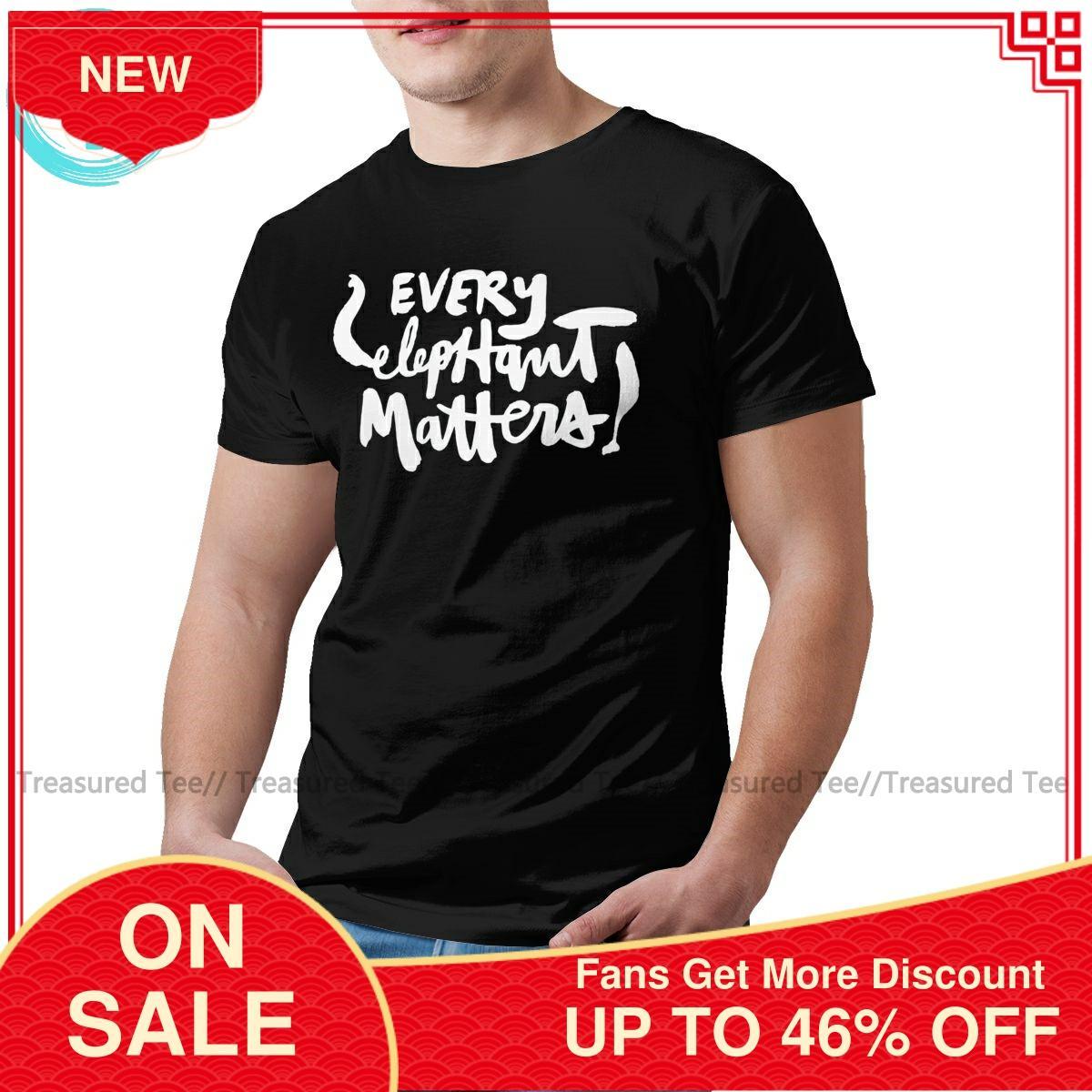 Camiseta de elefante de color oscuro con estampado de elefante para hombre