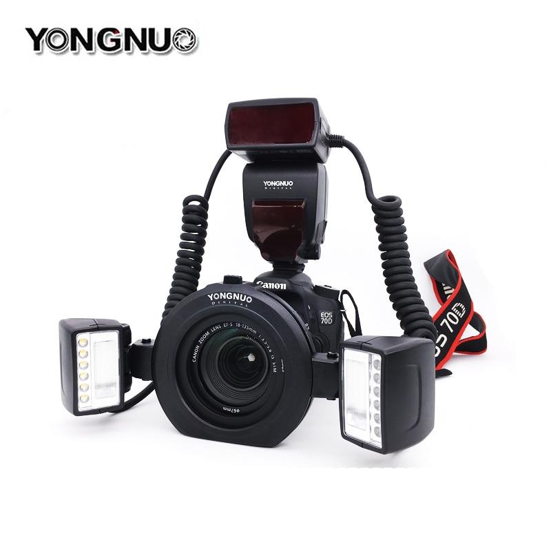 Yongnuo YN24EX YN24 EX Macro Ring Flash Light E TTL Speedlite with Dual 2*Flash Head + 4*Adapter Rings for Canon EOS Cameras