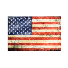 WN 60X90 90X150cm USA Vintage Style Tea Stained Old Antiqued American US Flag For Decoration