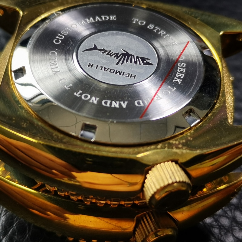Heimdallr Watch Case Sapphire Turtle 6015 Aluminum Bronze Bezel 20ATM Water Resistance Fit NH35A/36A Automatic Movement enlarge