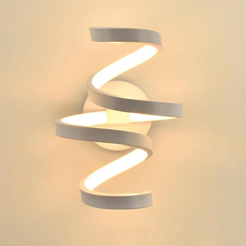 Lámparas LED de pared de estilo nórdico, luces LED de pared para dormitorio, lámparas de pared de salón, lámparas de interior, luz blanca cálida y luz blanca fría