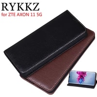 luxury leather flip cover for zte axon 11 5g protective mobile phone case for zte axon 1110 leather cover free shipping