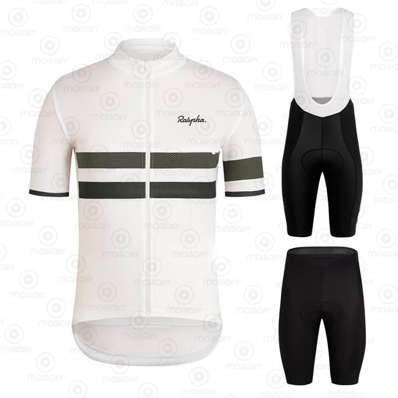 Ralvpha Men Cycling Jersey Bib Shorts Pro Cycling Set Breathable Men Bike Cycling Jersey Suits maillots ciclismo hombre 2020