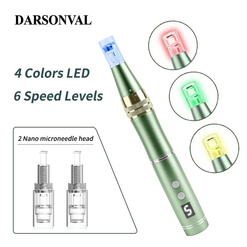 DARSONVAL Dr pluma eléctrica Microneedling pluma inalámbrica aguja Nano Micro belleza instrumento...