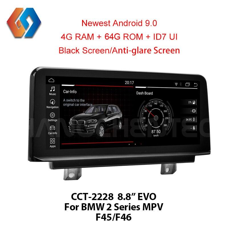 Android 9,0 Car Radio 1 Din para BMW Serie 2 F45 F46 2018 EVO PX6 2G 32G GPS navegación integrada WiFi BT Multimedia estéreo Unit28