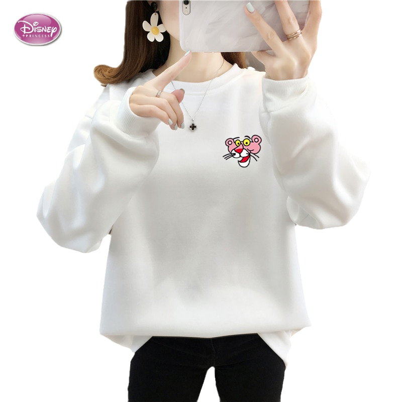 Женские толстовки с капюшоном в стиле Диснея, Свободные флисовые толстовки большого размера, теплые женские свитшоты в Корейском стиле, Y2K, ...