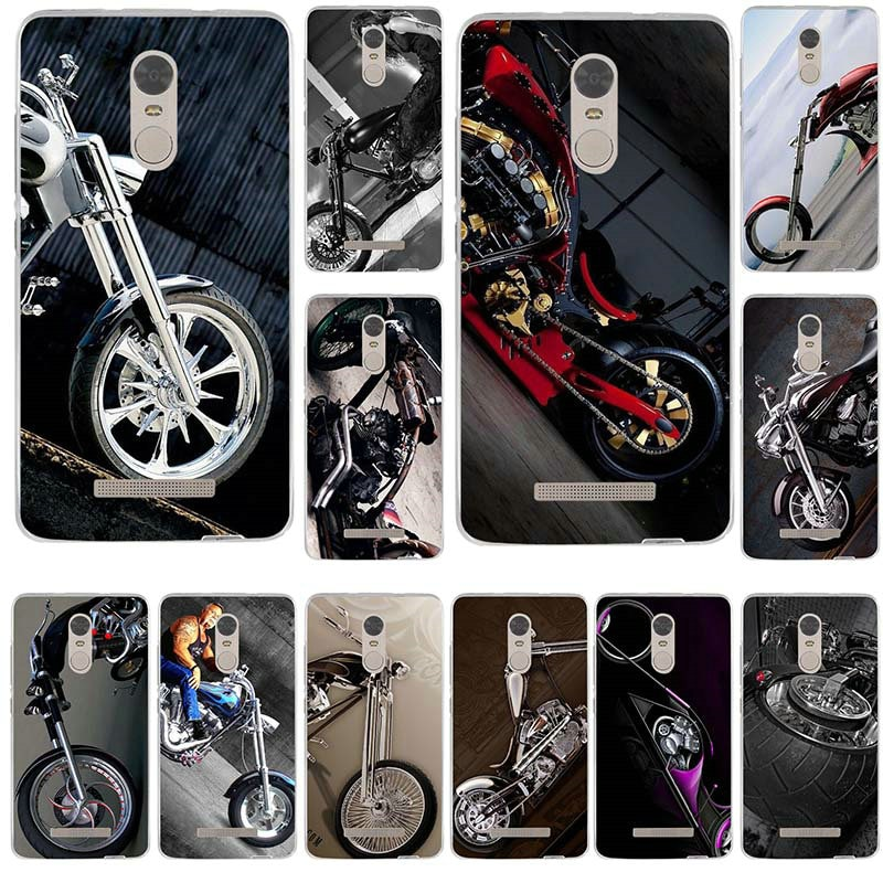 Clásico moto de la motocicleta cubierta de teléfono de TPU suave bolsas para xiaomi redmi mi nota 2 3 3S 4X 4A 5 6 5 5S 5A 6 8 A1 Pro Plus