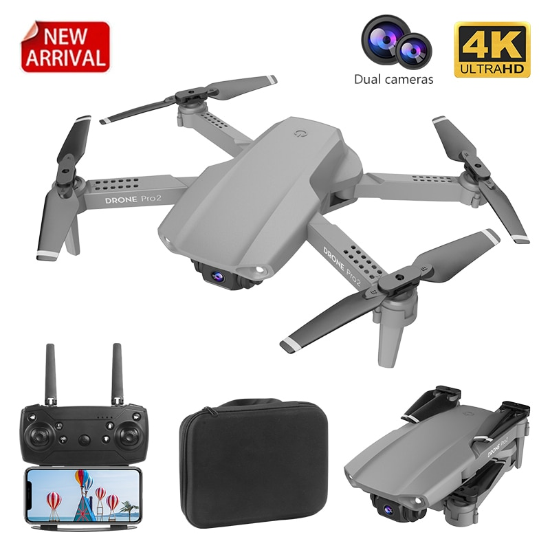 2021 New E99 RC Mini Drone 4K 1080P Dual Camera WIFI FPV Aerial Photography Black And Gray Foldable Dron Quadcopter Drones Toy