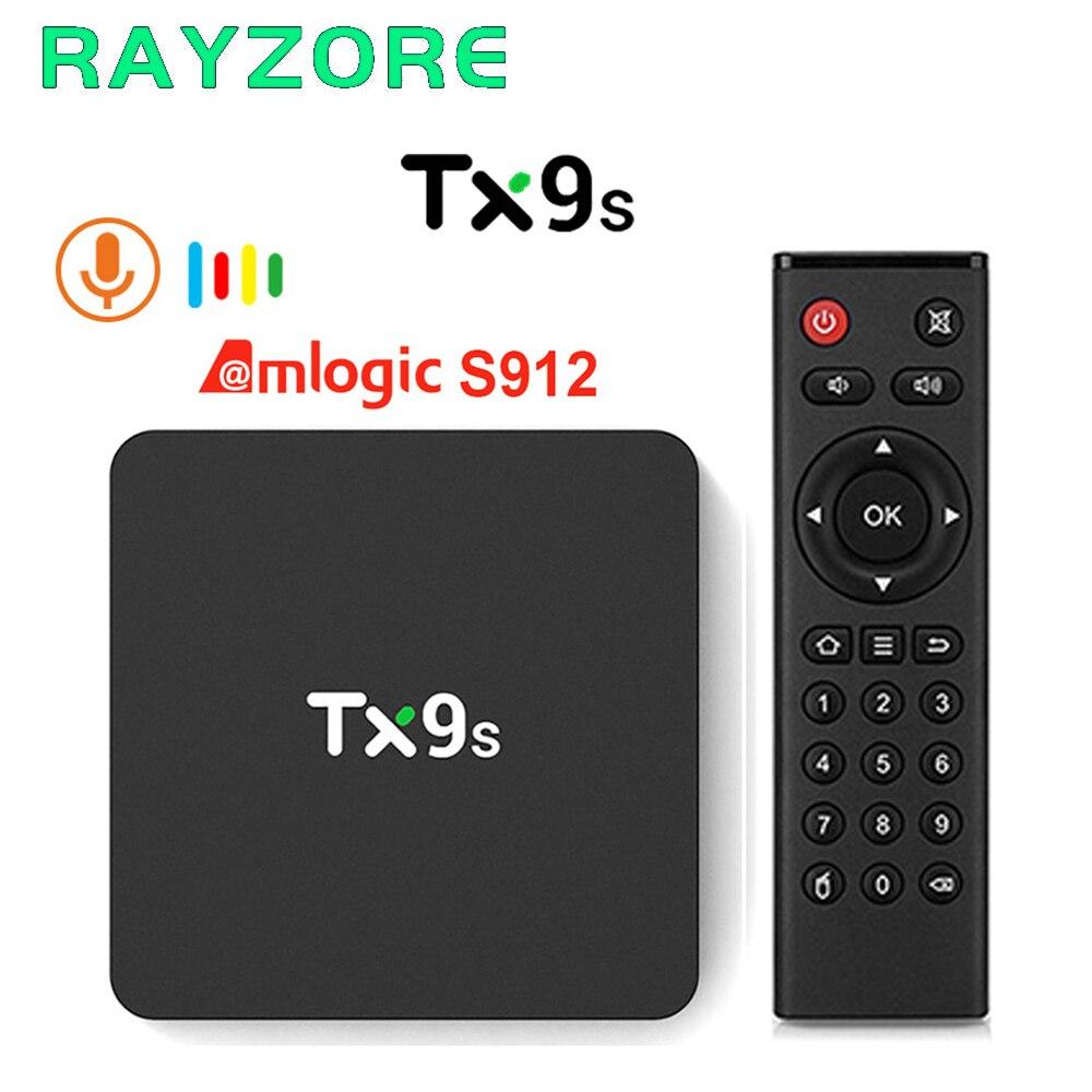 TX9s caja de Smart TV de Android Amlogic S912 Octa core 2GB 8GB 4K 60fps TVBox 2,4G Wifi 1000M de Netflix, Youtube 4K Set Top Box PK S905X3