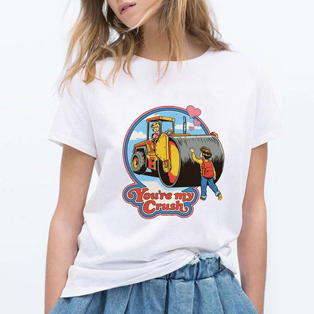 Женская футболка с коротким рукавом, винтажная, с графическим рисунком