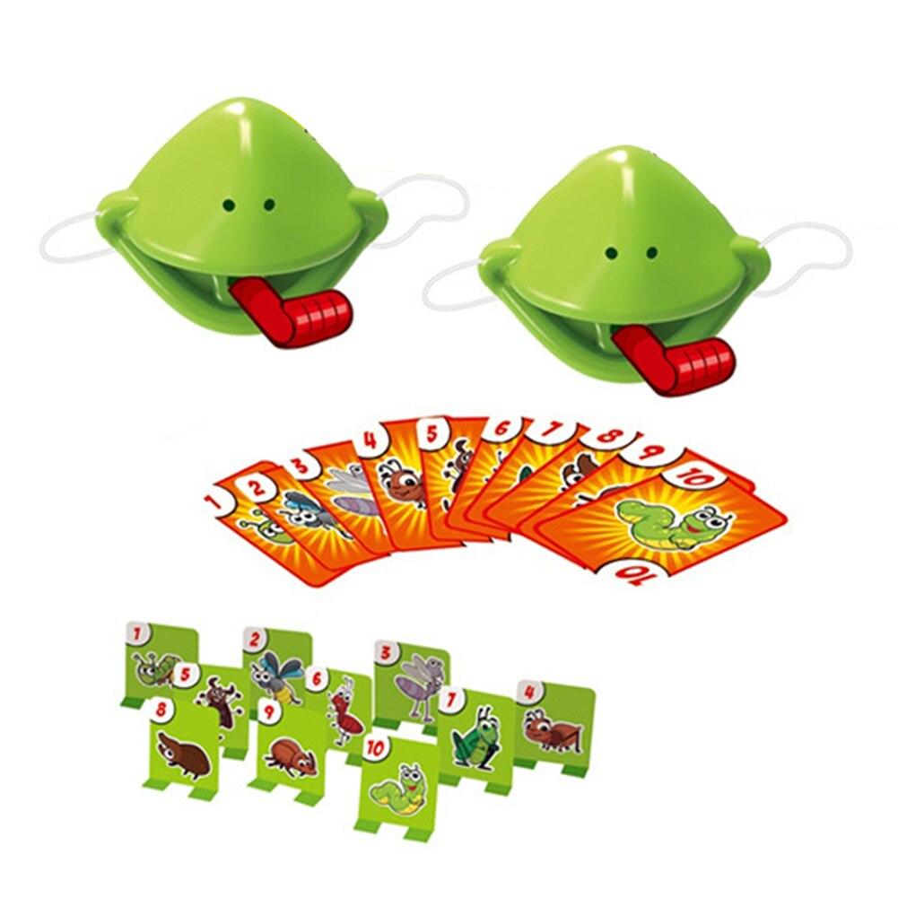 Be Quick Lick para niños, tomar tarjeta, lengua, fiesta familiar, atrapar insectos, casa, portátil, juego de mesa, reconocimiento de número, tic-tac, Boca de rana