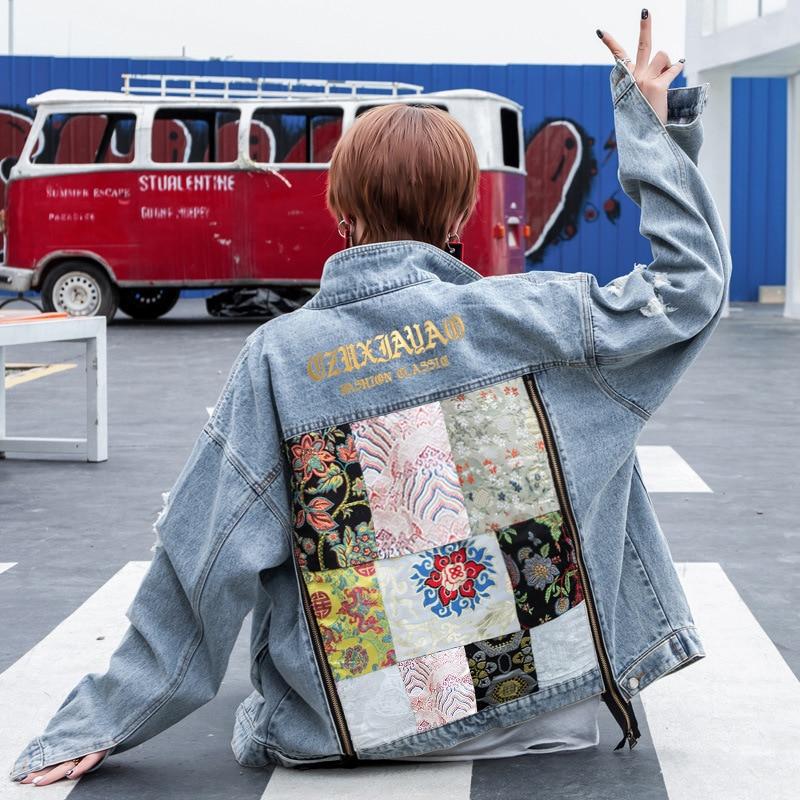 Весенняя джинсовая куртка, Женское пальто, женская куртка-бомбер, Женская ВИНТАЖНАЯ ДЖИНСОВАЯ КУРТКА, женская Свободная куртка bf, пальто и к...