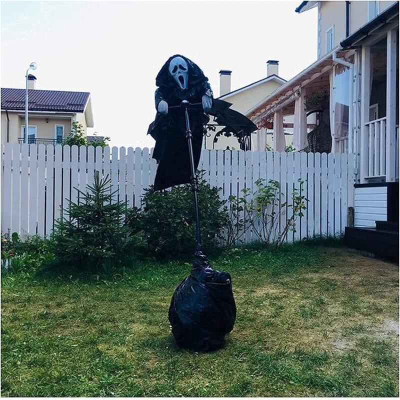 الصراخ الفزاعة الإبداعية حديقة Ghostface فزاعة ساحة معلقة مخيف الصراخ هالوين غوستفيس فزاعة ديكور توين Jardín