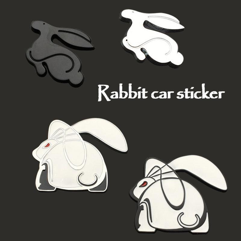 3D Metal Running Rabbit Emblem Car Sticker Rear Trunk Badge for VW Jetta Golf GTI Polo Universal Car Accessories Car Decoration