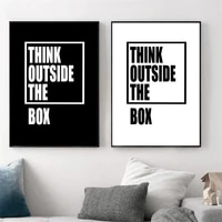 black white quotes posters and prints motivational word canvas painting minimalist wall pictures for living room home decoration