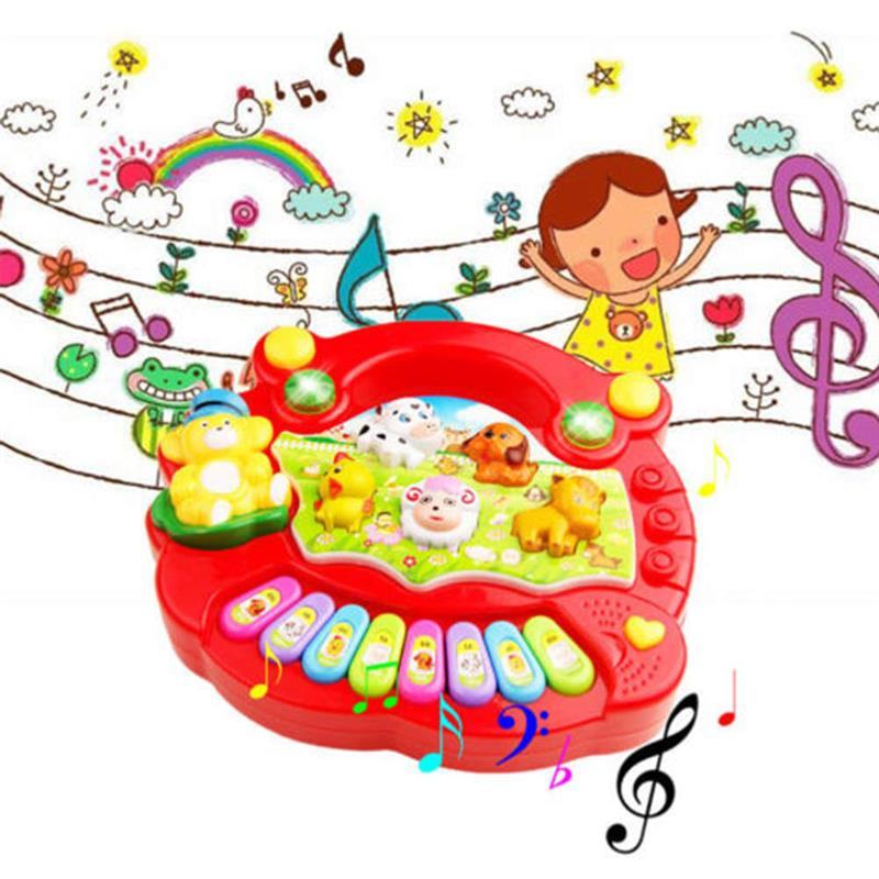 Baby Toys Kids Animal Farm Piano Music Educational Toys Musical Instrument Toy For Baby Boy Girl Gift недорого