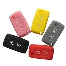 Car Key Case C6 Protector Cover 407 307 C4L 308 For Citroen C-Quatre C4 Aircross C3 3008  For Peugeot 207 Cover Remote Key Cover