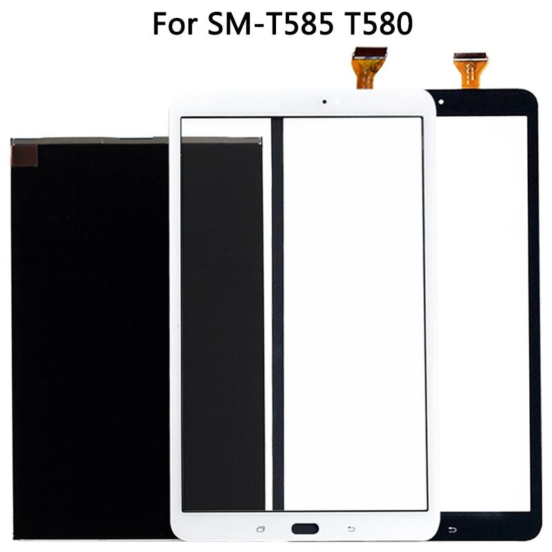 Nueva pantalla táctil T580 para Samsung Galaxy Tab A 10,1 SM-T585 T580, Panel táctil, Sensor digitalizador, pantalla LCD, cristal frontal