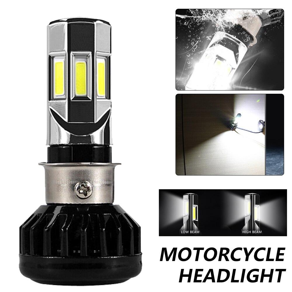 Haute puissance générique tout en un rdt motos M02H phare LED ampoule 4 COB AC & DC 40W 4400LM H4 HS1 H6 BA20D P15D feux de croisement