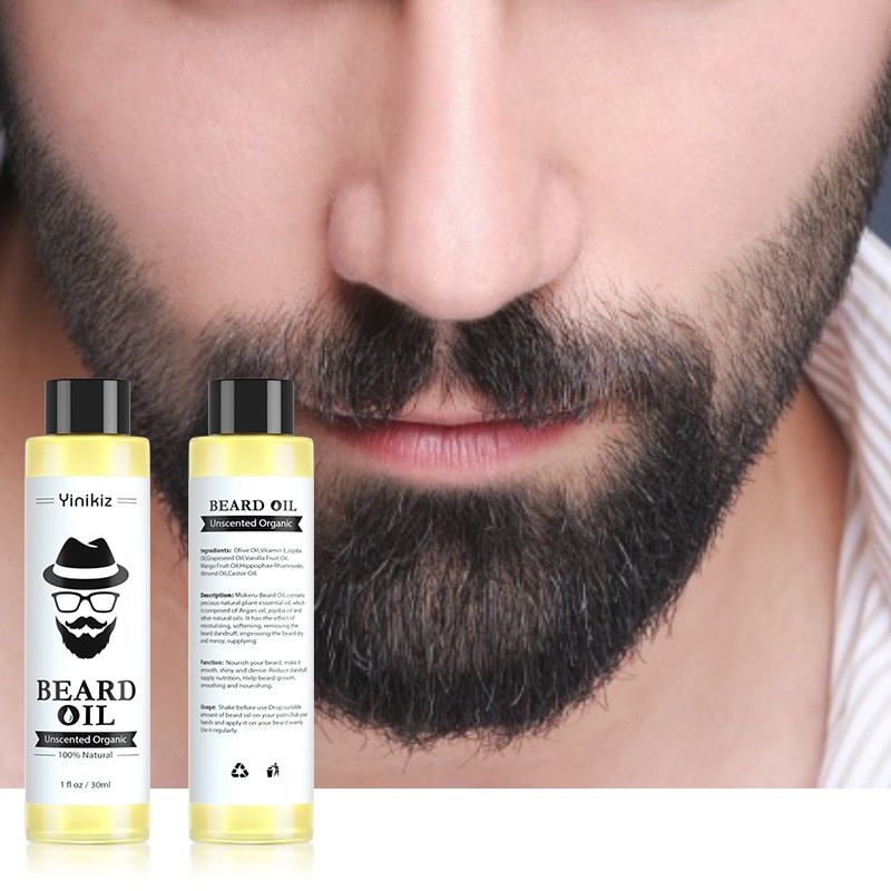 купить NEW 1 pc 30ml 100% Organic Beard Oil Hair loss Products Spray Beard Growth Oil For Growth Men Beard Grow Dropshipping в интернет-магазине