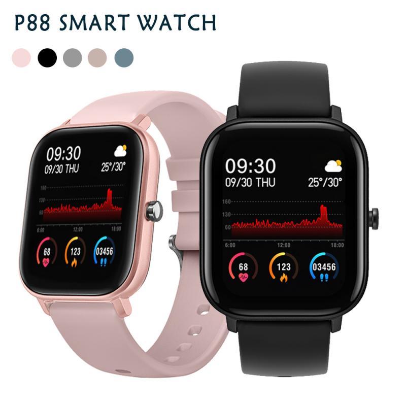 P8-reloj deportivo inteligente, resistente al agua, con pantalla táctil de 1,4 pulgadas y podómetro del ritmo cardíaco para teléfonos inteligentes IOS y Android