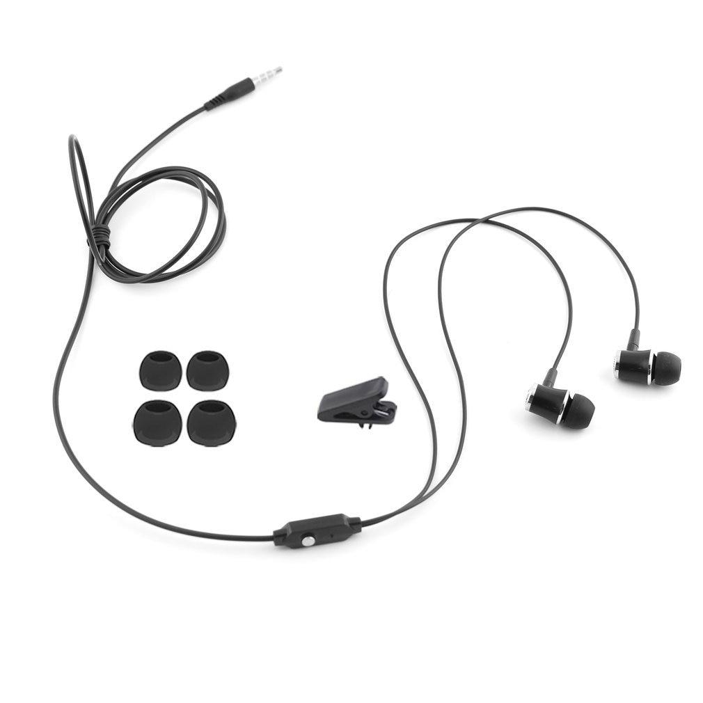 3.5mm dans loreille universel filaire écouteur casque avec Microphone basse et Microphone mains libres Sport stéréo musique écouteurs