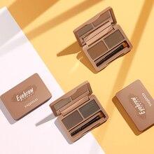 2 Color Waterproof Eye Makeup Palette Brush Kit Set  Eyeshadow Eyebrow Palette Eyebrow Powder Women