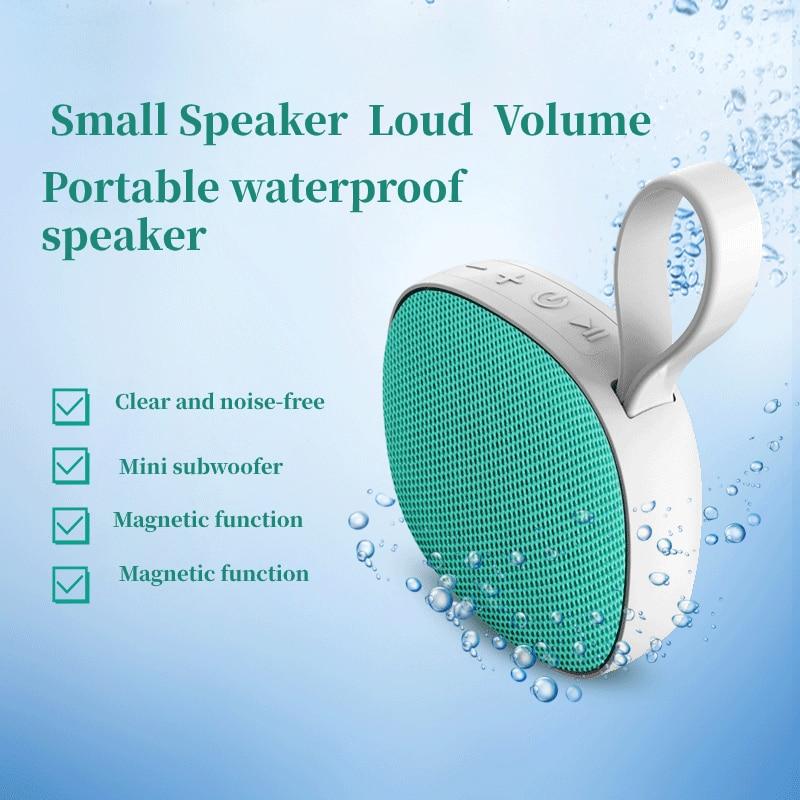 Altavoces inalámbricos bluetooth fáciles de llevar boombox mini A prueba de agua con radiador pasivo altavoz de graves de alta calidad con micrófono