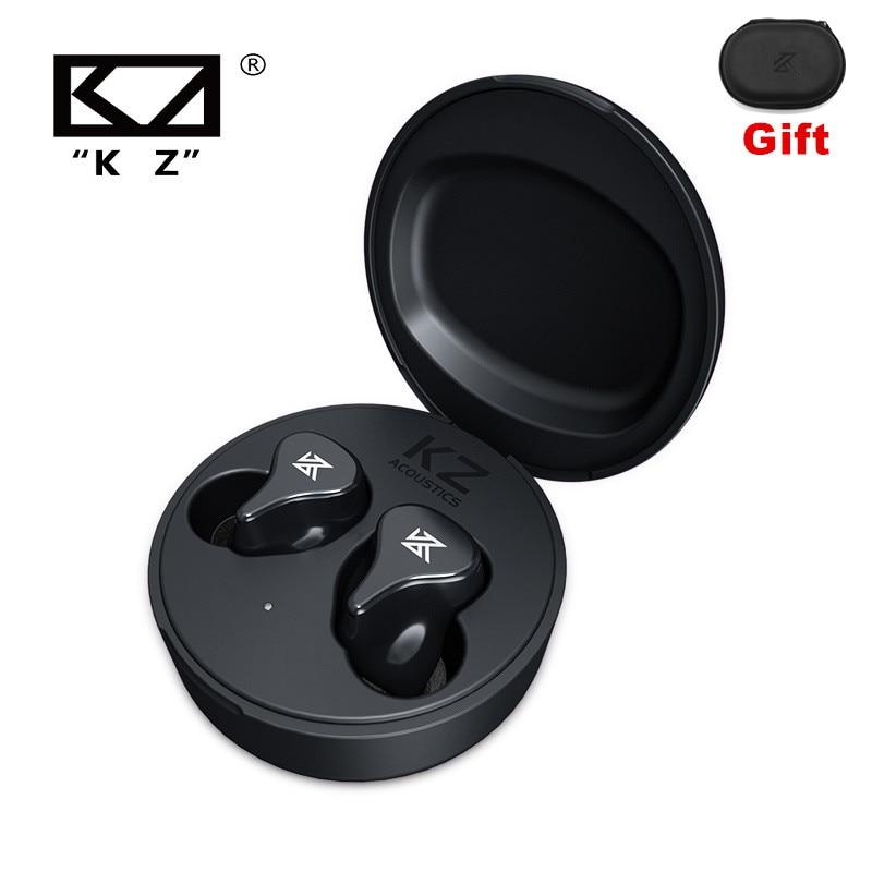 سماعة رأس رياضية HiFi طراز KZ Z1 Pro TWS Koptelefoon True Draadloze لعبة تعمل باللمس مع خاصية إلغاء الضوضاء ومتوافقة مع خاصية البلوتوث