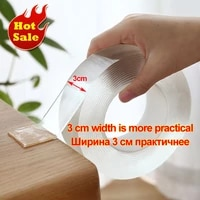 1235m nano magic tape double sided tape transparent notrace reusable waterproof adhesive tape home gekkotape wall stickers