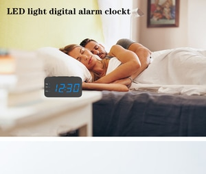 New Alarm Clock With LED Watch USB Snooze Clocks Alarm Large Backlight Control Digital Electronic Display Table Desktop Clock