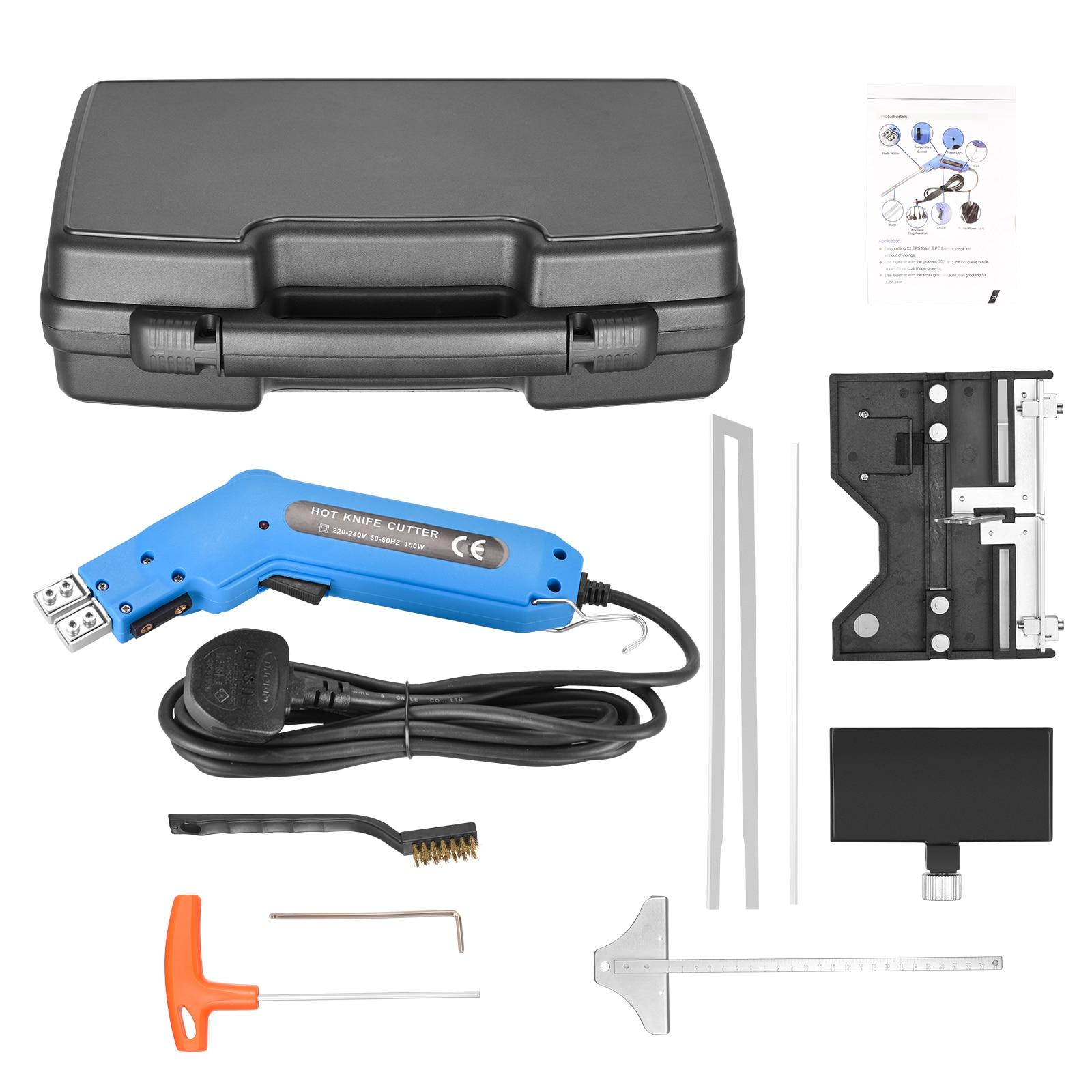 110V/150W Large Groove Electric Hot Knife Foam Cutter Heat Wire Grooving Cutting Tool Foam Cut Pen Sponge Insulation KT Board