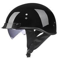 retro vintage motorcycle helmet open face scooter biker motorbike racing riding safety cascos para moto with dot certification
