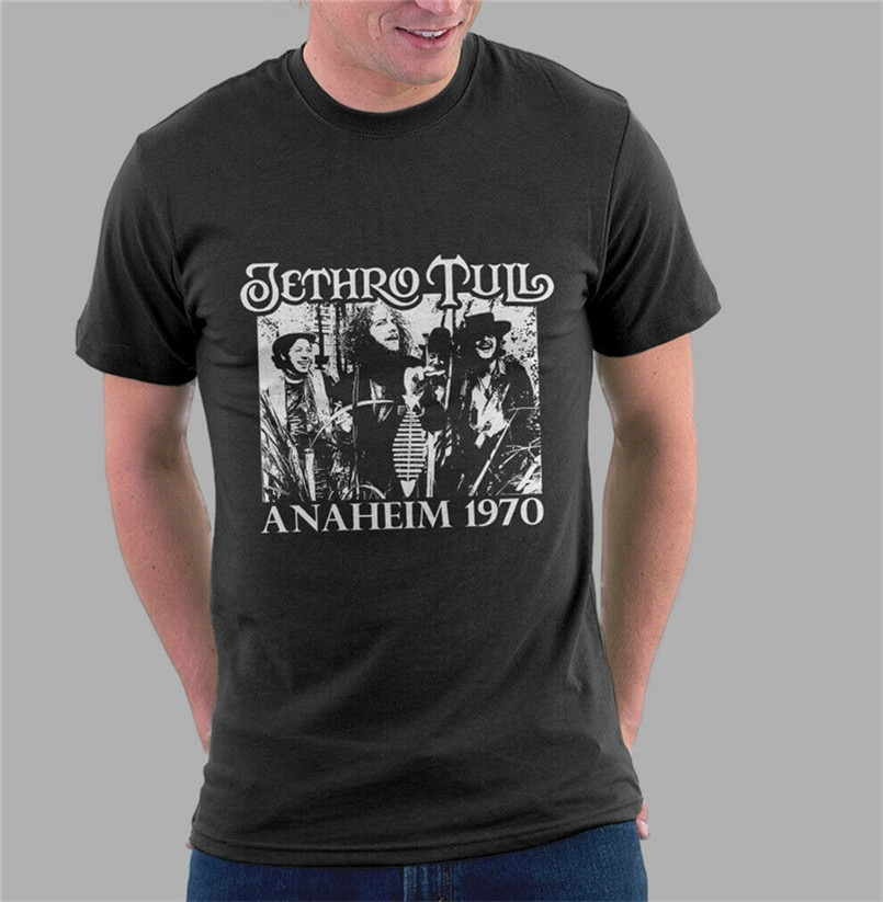 Jethro Tull T camisa Ian Anderson camiseta adulto hombre de música rock banda tamaño grande superior ajax Camiseta Tee camisa