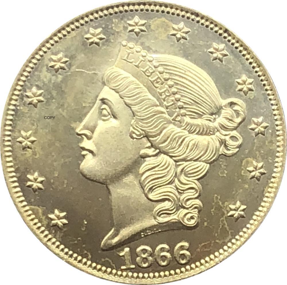 Con el lema doble águila 1866 S 1867 S 1868 S 1869 S 1870 S 1871 S 1872 S 1873 S 1874 S 1875 S 1876 S 1877 S 20 $ dólares moneda