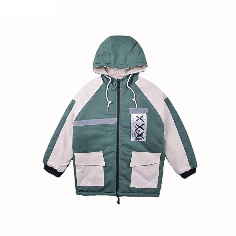 Уличное пальто в стиле хип-хоп, мужская зимняя куртка, Мужская парка, теплые Молодежные зимние куртки в стиле хип-хоп, мужская зимняя куртка