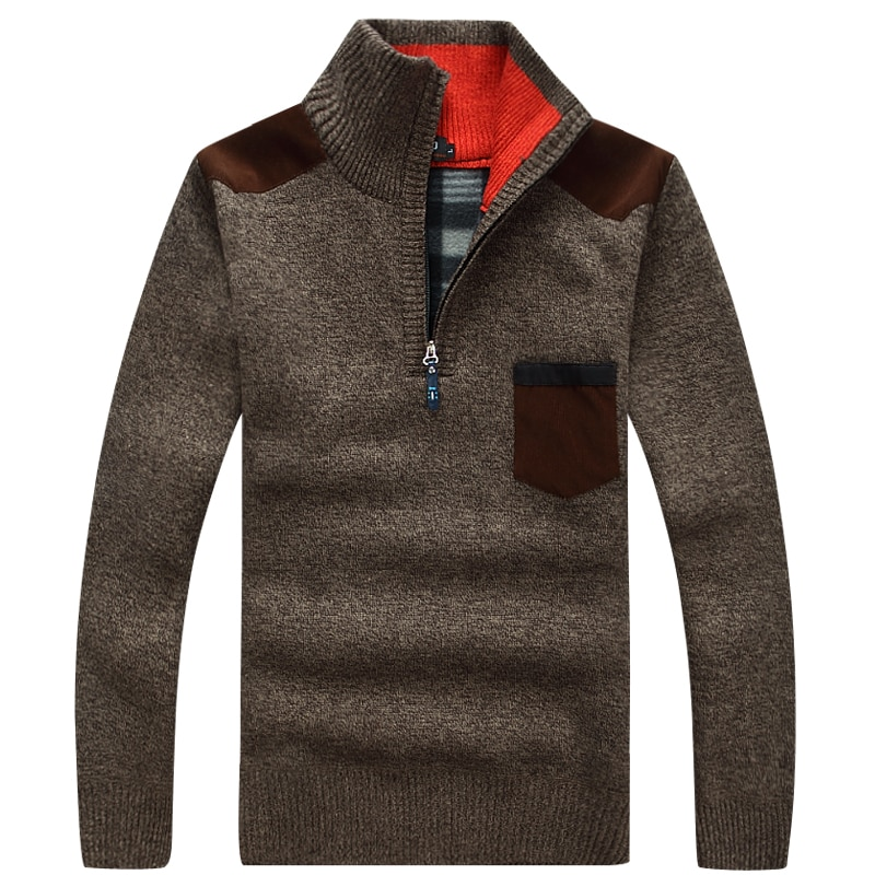 Фото - Mock Neck Sweater Winter Thickened Cashmere Sweater Knitwear Pullover Cashmere Casual Fleece Autumn Coat  Cashmere Sweater Men fall winter sweater men thickened korean fashion personality sweater lazy pullover sweater coat