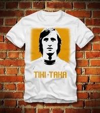 T Shirt Johan Cruyff Tiki Taka Fussball Soccers Footballer Legend Retro New 2019 Letter Fitness T-Shirt Retro Gift