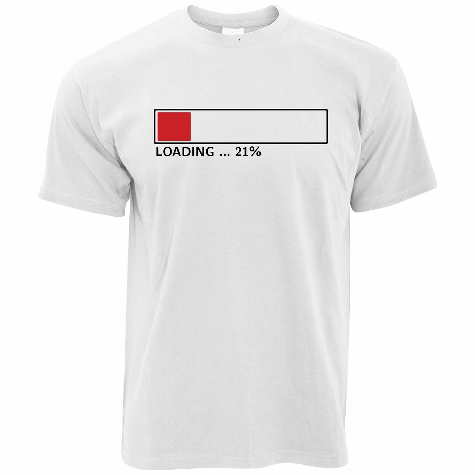 21st cumpleaños camiseta carga 21% completa Twenty One regalo divertida computadora