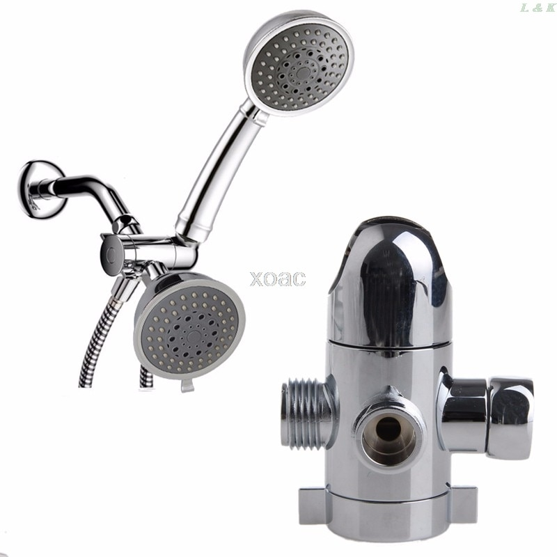 Montaje de desviador de cabezal de ducha de tres vías soporte de fijación de válvula montado en Brazo de ducha Combo M03 dropship